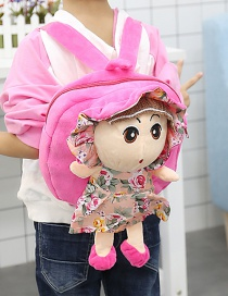 Fashion Pink Girl Shape Decorated Backpack