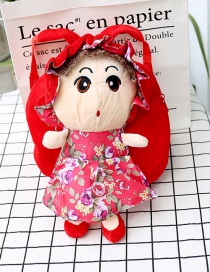 Fashion Red Girl Shape Decorated Backpack