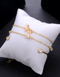 Fashion Gold Color Diamond Decorated Pure Color Bracelet(3pcs)
