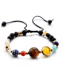 Fashion Multi-color Bead Decorated Bracelet