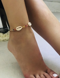Fashion Multi-color Shell Shape Decorated Anklet