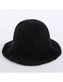 Simple Black Pure Color Decorated Hat