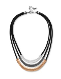 Fashion Silver Color Color Matching Decorated Multi-layer Necklace