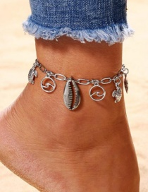 Fashion Silver Color Starfish&shell Shape Decorated Anklets