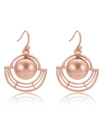 Fashion Rose Gold Hollow Out Design Pure Color Earrings