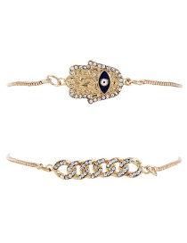 Fashion Gold Color Hand Shape Decorated Bracelet