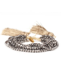 Fashion Silver Color Bead&tassel Decorated Bracelet