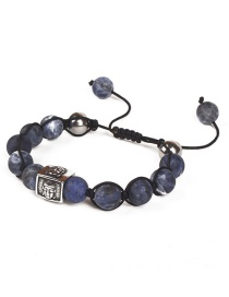 Fashion Dark Blue Buddha Pattern Decorated Bracelet