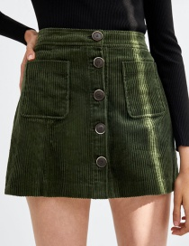 Fashion Green Pure Color Decorated Skirt