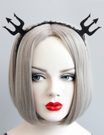 Fashion Black Pure Color Decorated Hairband