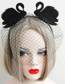 Fashion Black Swan Shape Decorated Hair Accessories