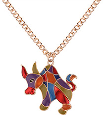 Fashion Champagne Cattle Shape Decorated Necklace