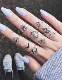 Fashion Silver Color Hollow Out Design Rings Sets