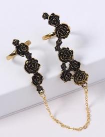 Fashion Gold Color Rose Shape Design Ring