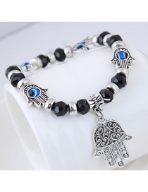 Fashion Black Palm Shape Decorated Bracelet