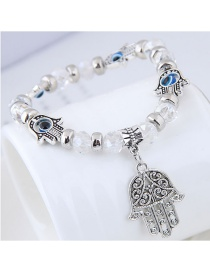 Fashion White Palm Shape Decorated Bracelet