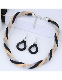 Fashion Multi-color Color Matching Design Simple Jewelry Sets