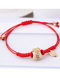 Fashion Red Wallet Shape Decorated Bracelet