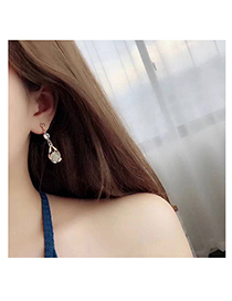 Fashion Gold Color Hollow Out Design Irregular Shape Earrings