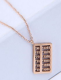 Fashion Rose Gold Abacus Shape Decorated Necklace