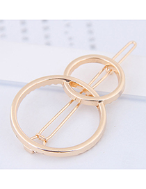Fashion Gold Color Round Shape Decorated Hair Clip