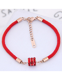Fashion Red Diamond Decorated Bracelet