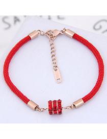 Fashion Red Diamond Decorated Bracelet