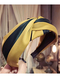Fashion Yellow Color-matching Decorated Hair Hoop