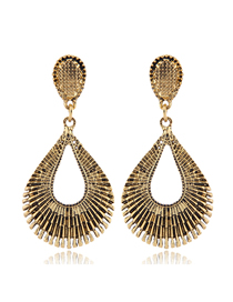 Fashion Gold Metal Hollowed Out Earrings
