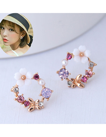Fashion Color Butterfly&flower Shape Earrings