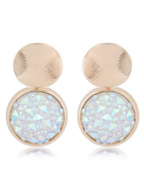 Fashion Ab Color Diamond Stud Earrings