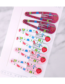 Fashion Color Child Apple Pattern Water Drop Hair Clip