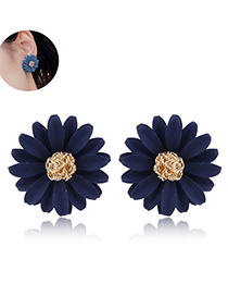 Fashion Black Flower Earrings