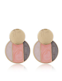 Fashion Pink 925 Silver Needle Stud Earrings