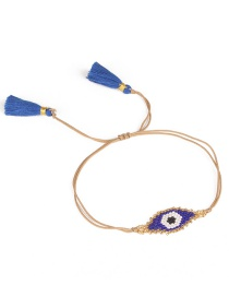 Vintage Blue Eye Shape Decorated Bracelet