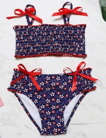 Sexy Red Bowknot Shape Decorated Swimwear