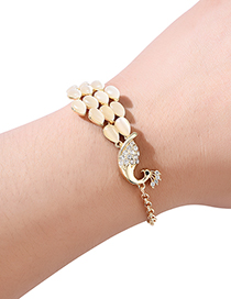 Fashion Gold Color Peacock Shape Decorated Bracelet