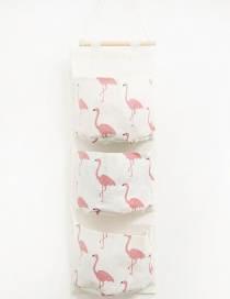 Fashion Red Flamingo Pattern Decorated Storage Bag