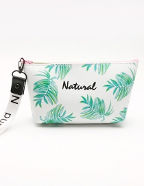 Fashion Green Leaf Pattern Decorated Storage Bag