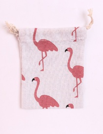 Fashion Pink Flamingo Pattern Decorated Storage Bag