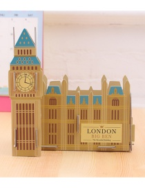 Fashion Yellow Big Ben Shape Decorated Storage Box