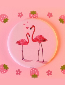 Fashion Pink Flamingo Shape Decorated Mirror