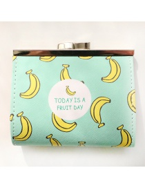 Fashion Yellow Banana Pattern Decorated Wallet