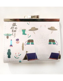 Fashion Multi-color Letter Pattern Decorated Wallet