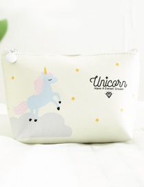 Fashion Beige Unicorn Pattern Decorated Storage Bag
