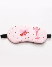 Fashion Pink Heart≤opard Pattern Decorated Eyepatch