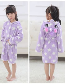 Fashion Purple Star Pattern Decorated Pajamas