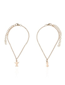 Fashion Gold Color Pure Color Decorated Anklet(2pcs)