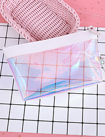 Fashion White Transparent Decorated Cosmetic Bag