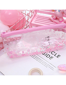 Fashion Pink Flower Pattern Decorated Pencil Case